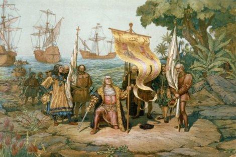 Columbus Amerika'yı keşfederken